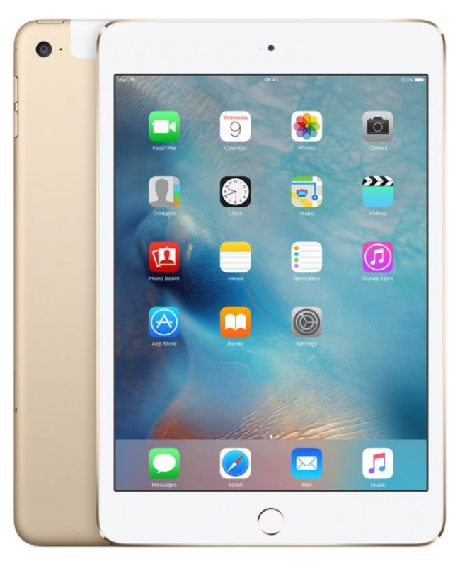 Планшет APPLE iPad mini 4 128Gb Wi-Fi Gold MK9Q2RU/A apple ipad pro 9 7 128gb wi fi gold mlmx2ru a