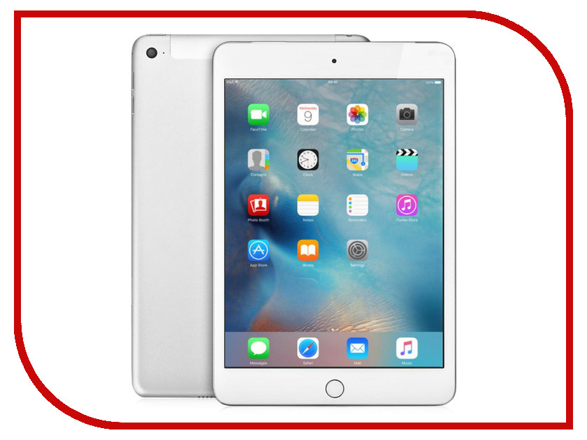 Планшет APPLE iPad mini 4 64Gb Wi-Fi + Cellular Silver MK732RU/A<br>