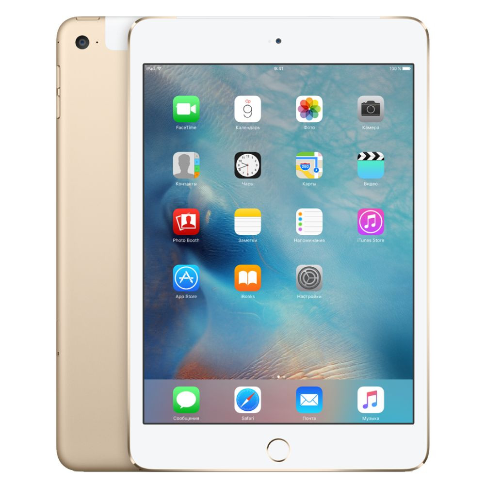 Планшет APPLE iPad mini 4 128Gb Wi-Fi + Cellular Gold MK782RU/A apple ipad pro 9 7 128gb wi fi gold mlmx2ru a