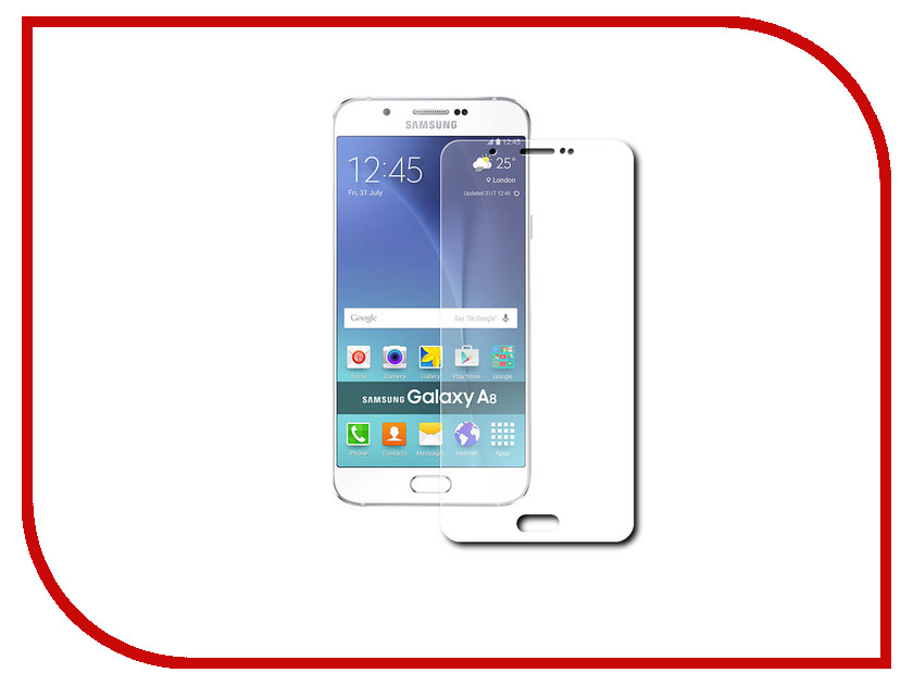 Аксессуар Защитное стекло Samsung Galaxy A8 Red Line Tempered Glass<br>