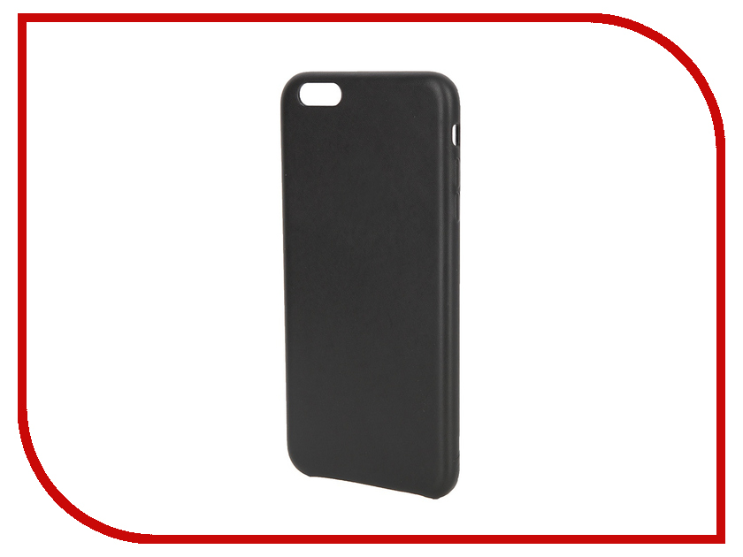 Аксессуар Чехол APPLE iPhone 6S Plus Leather Case Black MKXF2ZM/A