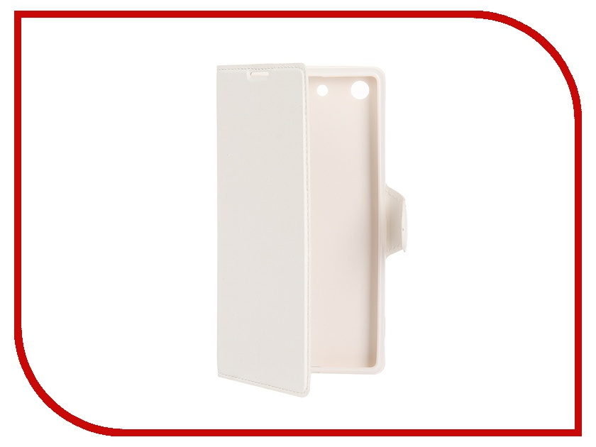 ��������� �����-������ Sony Xperia M5 Book Type Super Sleek Red Line White