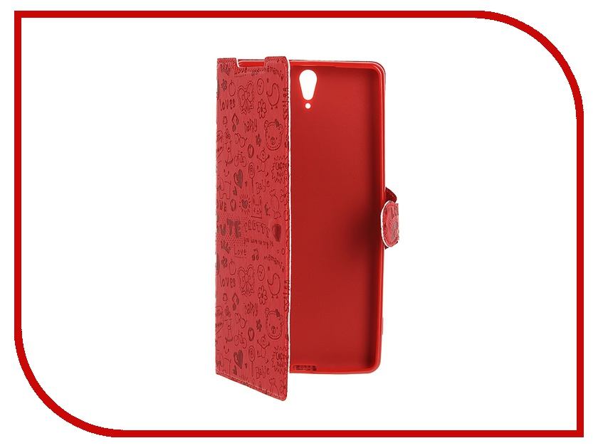 ��������� �����-������ Sony Xperia C5 Ultra Book Type Red Line Red