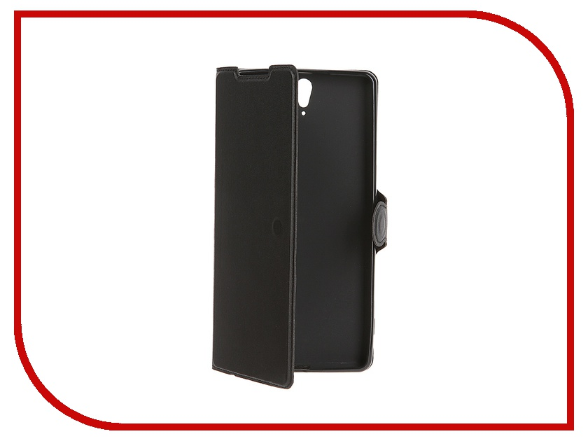 Аксессуар Чехол-книжка Sony Xperia C5 Ultra Red Line Book Type Super Sleek Black<br>