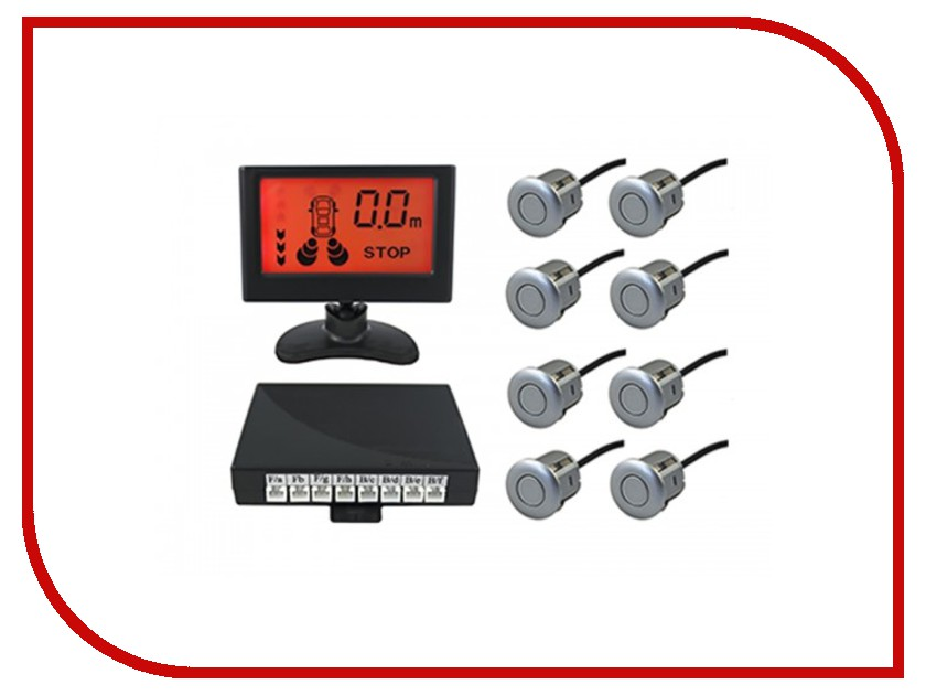 Парктроник SVS LCD-088-4 Black