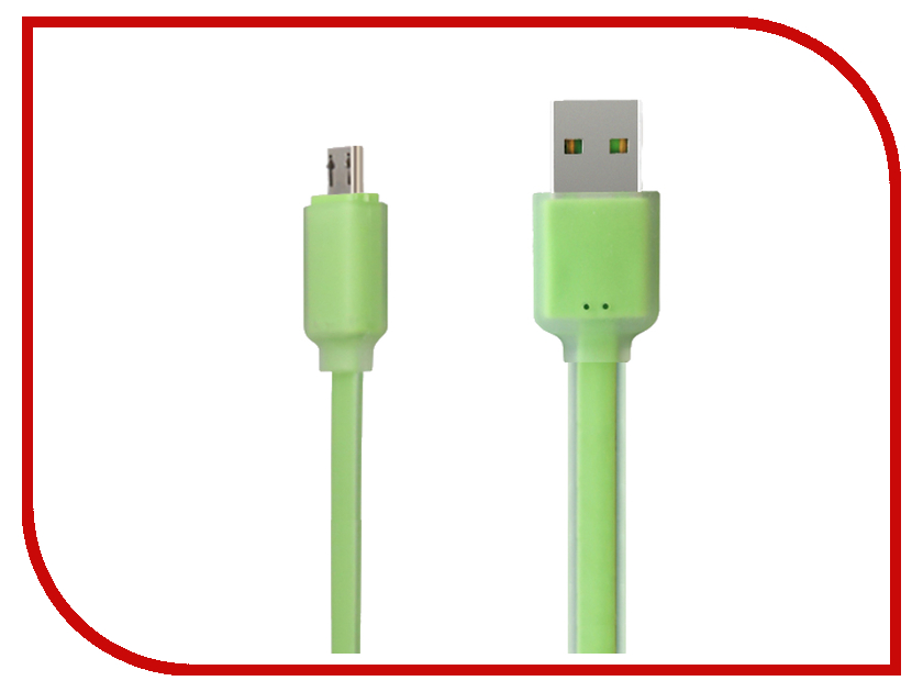 Аксессуар Ainy Micro USB FA-034H Light Green<br>