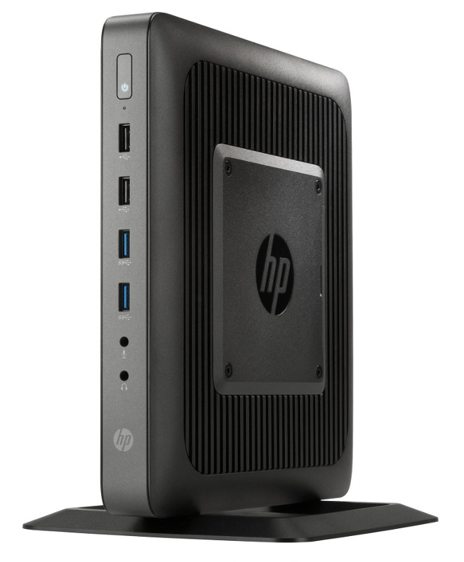 Неттоп HP T620 Thin Client F5A50AA Black (AMD GX-217GA 1.65 GHz/4096Mb/16Gb SSD/AMD Radeon HD8280E/HP ThinPro 32)