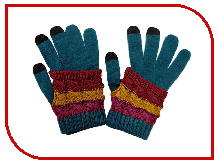 Теплые перчатки для сенсорных дисплеев Экспедиция GlovesBLU-05 Blue