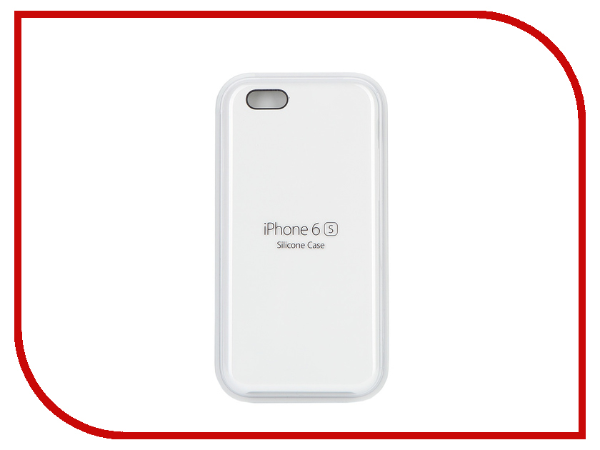 Аксессуар Чехол APPLE iPhone 6S Silicone Case White MKY12ZM/A<br>