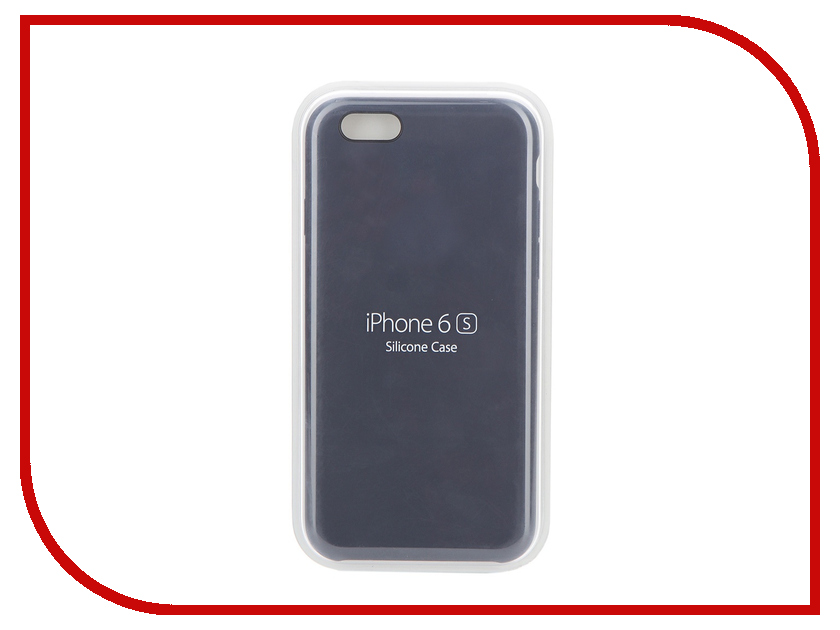 Аксессуар Чехол APPLE iPhone 6S Silicone Case Midnight Blue MKY22ZM/A<br>