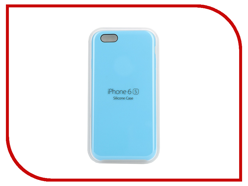 Аксессуар Чехол APPLE iPhone 6S Silicone Case Blue MKY52ZM/A<br>