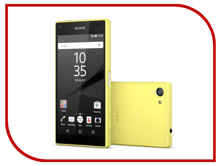 Сотовый телефон Sony E5823 Xperia Z5 Compact Yellow<br>