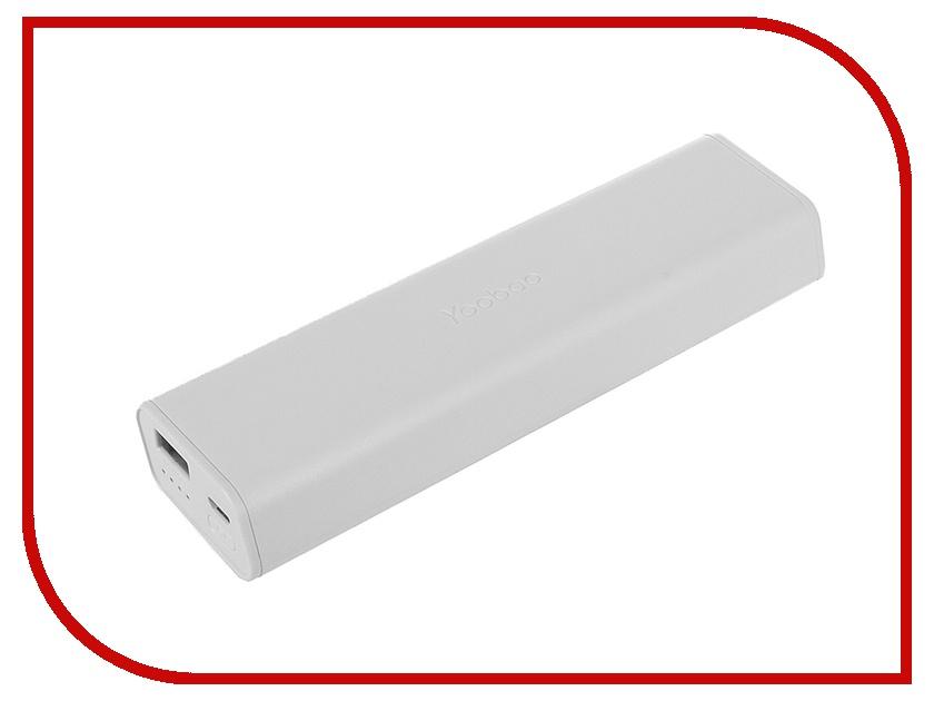Аккумулятор Yoobao YB-6004 10400mAh White аксессуар yoobao usb type c microusb lightning yb 453 gold