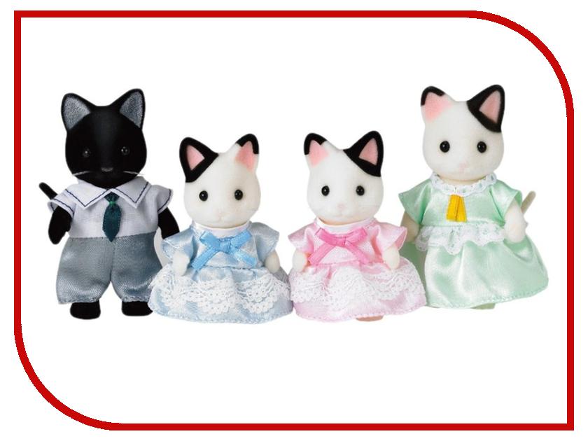 Игрушка Sylvanian Families Семья Чёрно-белых котов 5181 sylvanian families 3137 семья персидских котов