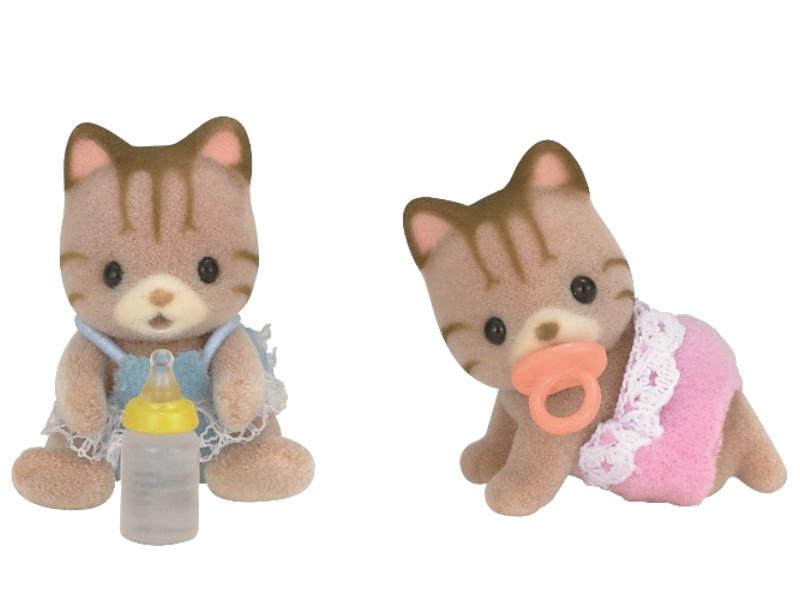 Игровой набор Sylvanian Families Полосатые котята-двойняшки 5188 цены