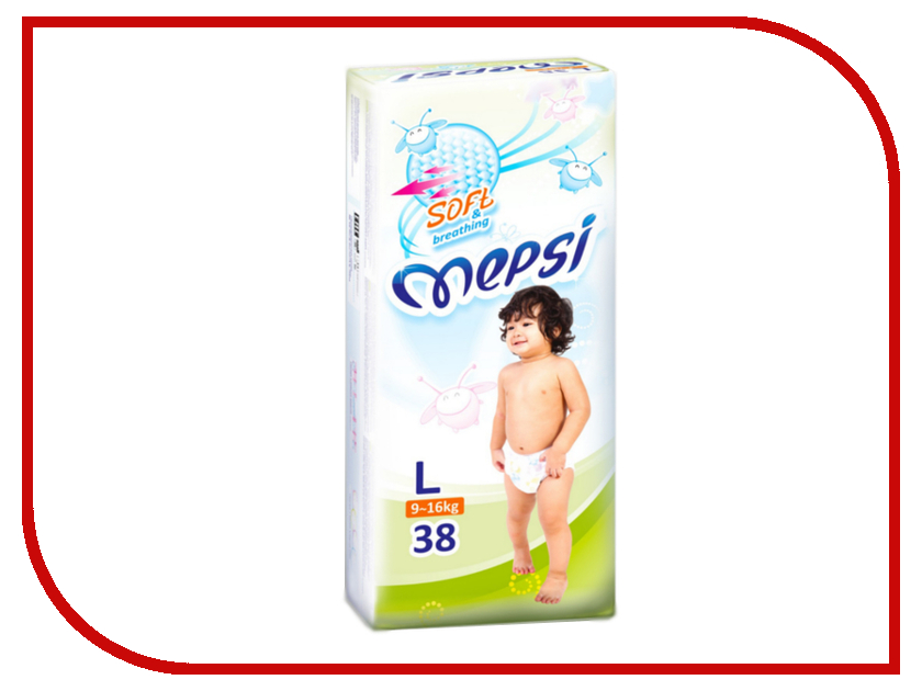 Подгузники Mepsi Premium L 9-16кг 38шт