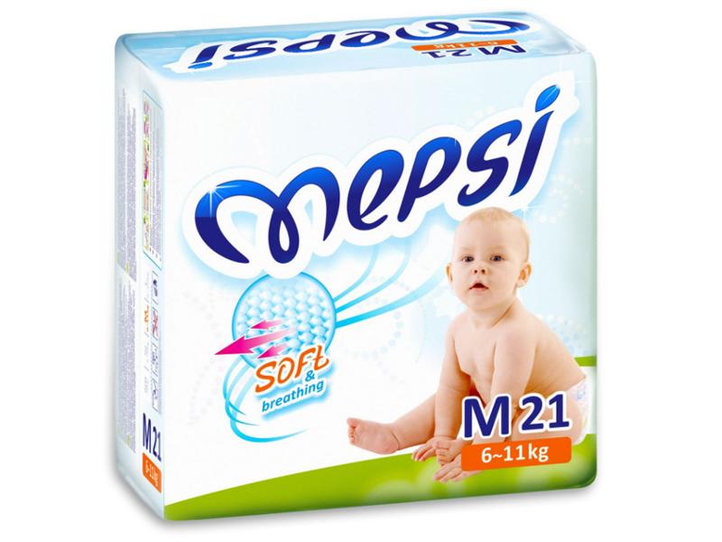 Подгузники Mepsi Premium M 6-11кг 21шт<br>