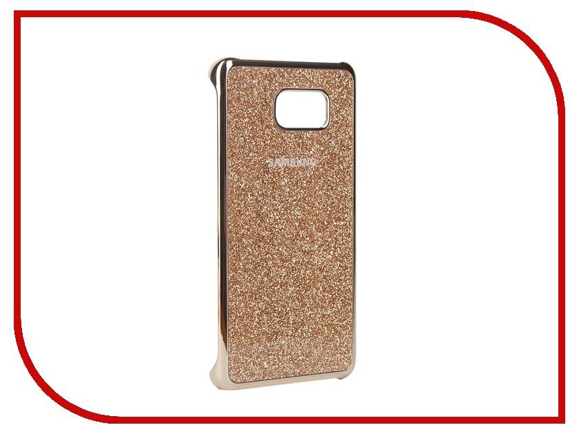 Аксессуар Чехол Samsung Galaxy Note 5 Glitter Cover Gold EF-XN920CFEGRU<br>