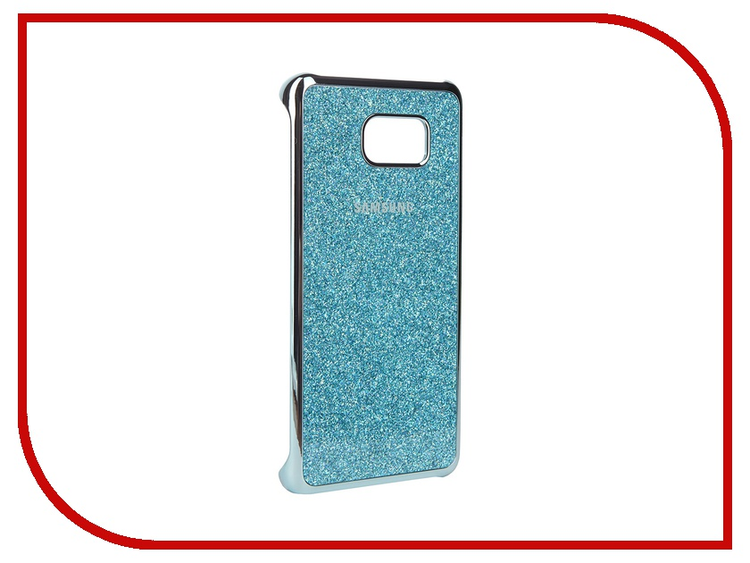 Аксессуар Чехол-накладка Samsung Galaxy Note 5 Glitter Cover Blue EF-XN920CLEGRU<br>