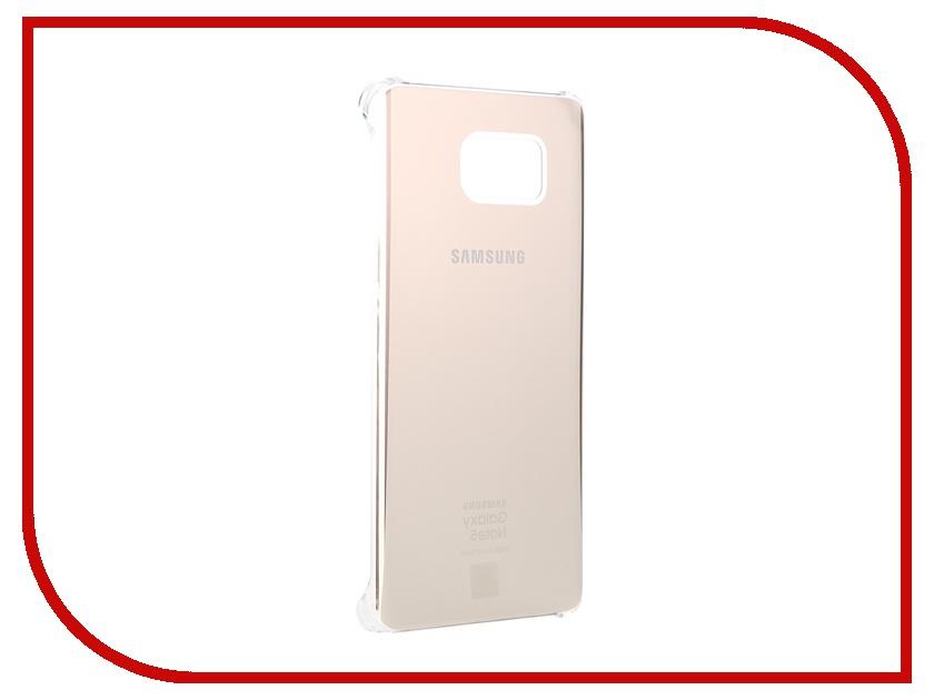 Аксессуар Чехол-накладка Samsung Galaxy Note 5 Glossy Cover Gold EF-QN920MFEGRU<br>