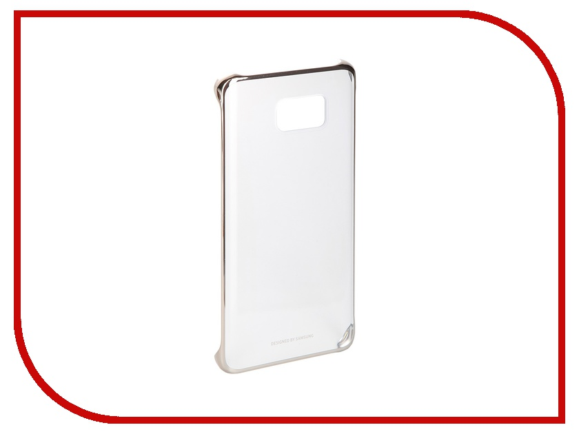 Аксессуар Чехол-накладка Samsung Galaxy Note 5 Clear Cover Gold EF-QN920CFEGRU<br>