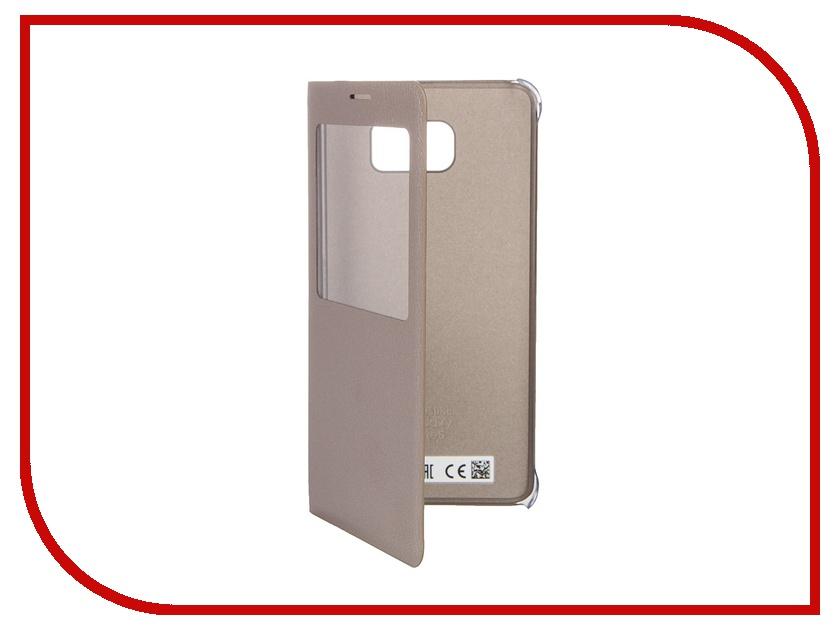 Аксессуар Чехол Samsung Galaxy Note 5 S View Cover Gold EF-CN920PFEGRU<br>