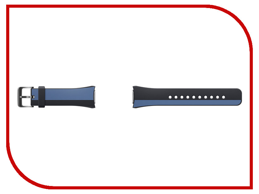 Аксессуар Ремешок Samsung ET-SRR72MLEGRU для Gear S2 / Gear S2 Sport Black-Blue<br>