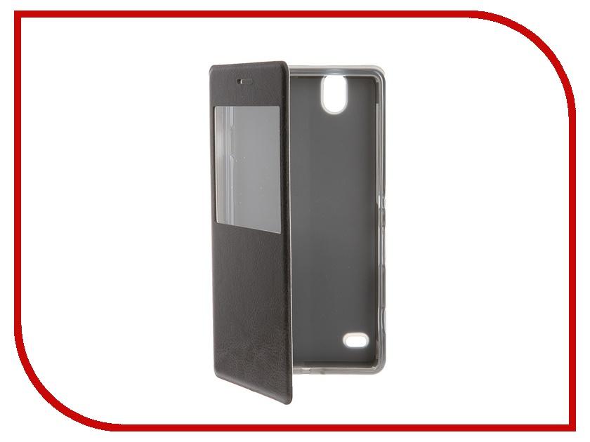 Аксессуар Чехол Sony Xperia C4 SkinBox Lux AW Black T-S-SEC4-004<br>