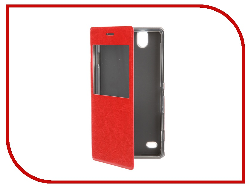 Аксессуар Чехол Sony Xperia C4 SkinBox Lux AW Red T-S-SEC4-004<br>