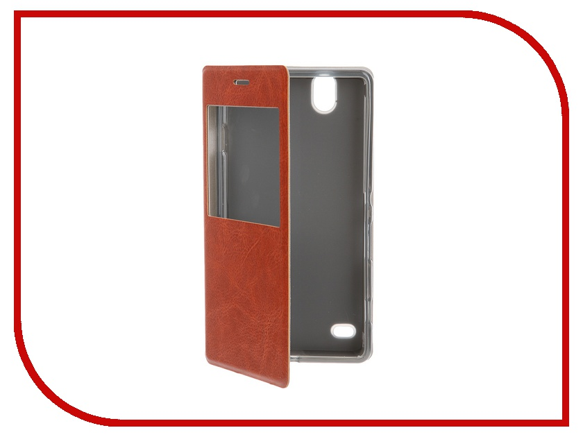 Аксессуар Чехол Sony Xperia C4 SkinBox Lux AW Brown T-S-SEC4-004<br>