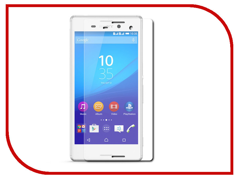 ��������� �������� ������ Sony Xperia M4 Aqua SkinBox 0.3mm 2.5D ��������� SP-119