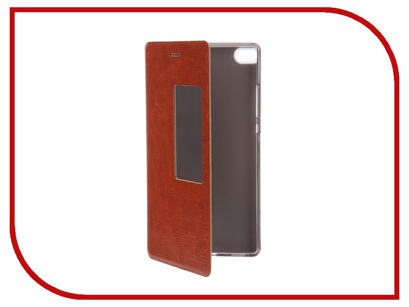 Аксессуар Чехол Huawei P8 SkinBox Lux AW Brown T-S-HP8-004<br>
