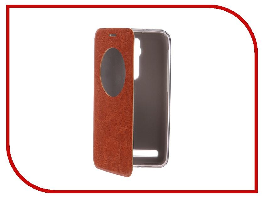 Аксессуар Чехол ASUS ZenFone 2 ZE551ML/ZE550ML 5.5 SkinBox Lux AW Brown T-S-AZF2-004<br>