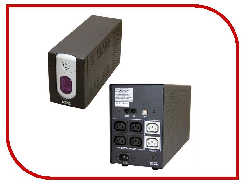 Источник бесперебойного питания Powercom IMD-1025AP 1025VA 615W