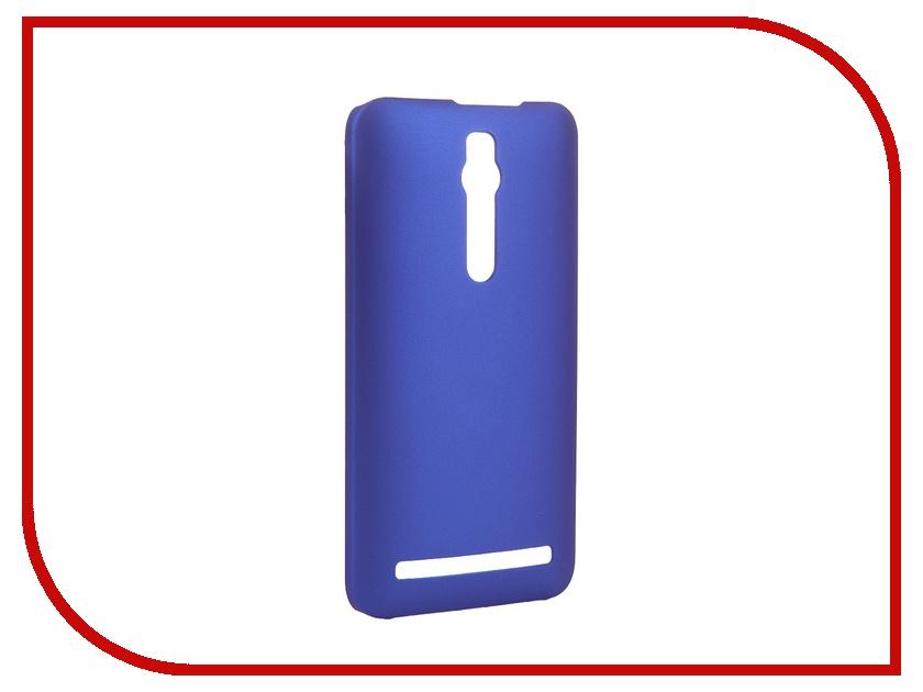 Аксессуар Чехол-накладка ASUS ZenFone 2 ZE551ML/ZE550ML SkinBox 4People Blue T-S-AZ2-002 + защитная пленка<br>