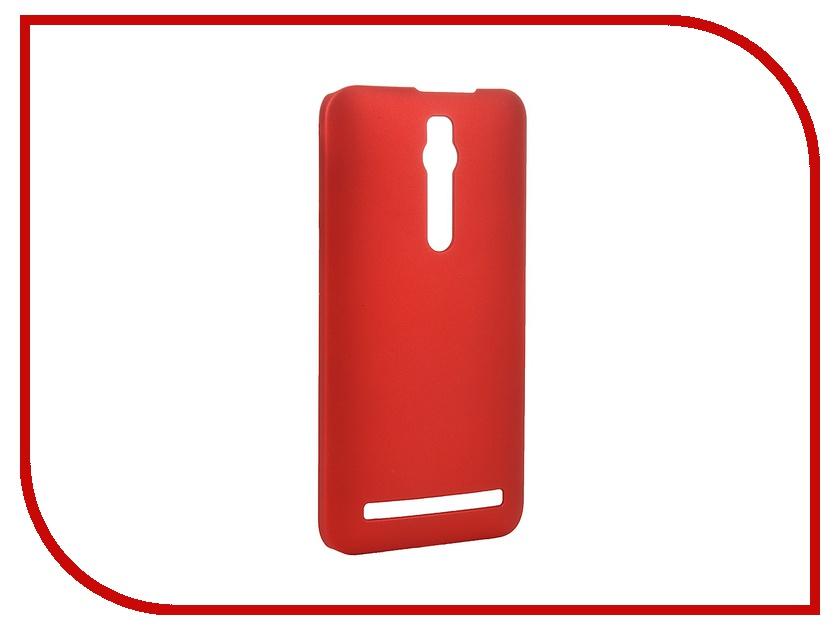 Аксессуар Чехол-накладка ASUS ZenFone 2 ZE551ML/ZE550ML SkinBox 4People Red T-S-AZ2-002 + защитная пленка<br>