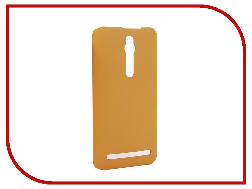 Аксессуар Чехол-накладка ASUS ZenFone 2 ZE551ML/ZE550ML SkinBox 4People Yellow T-S-AZ2-002 + защитная пленка