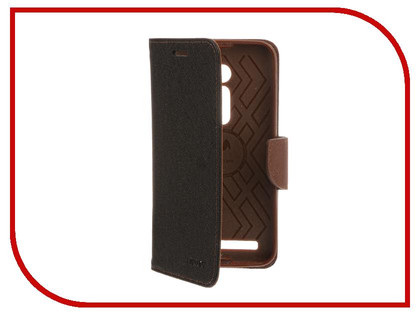Аксессуар Чехол ASUS ZenFone 2 ZE500CL 5 Mercury Case Black-Brown T-M-AZ2-001