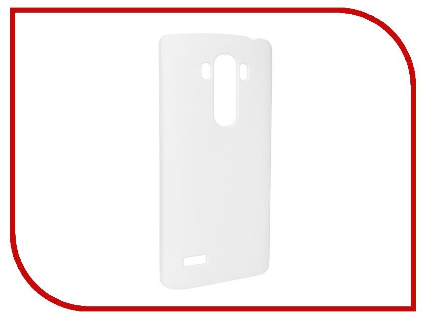 Аксессуар Чехол-накладка LG G4S Nillkin Frosted Shield White<br>