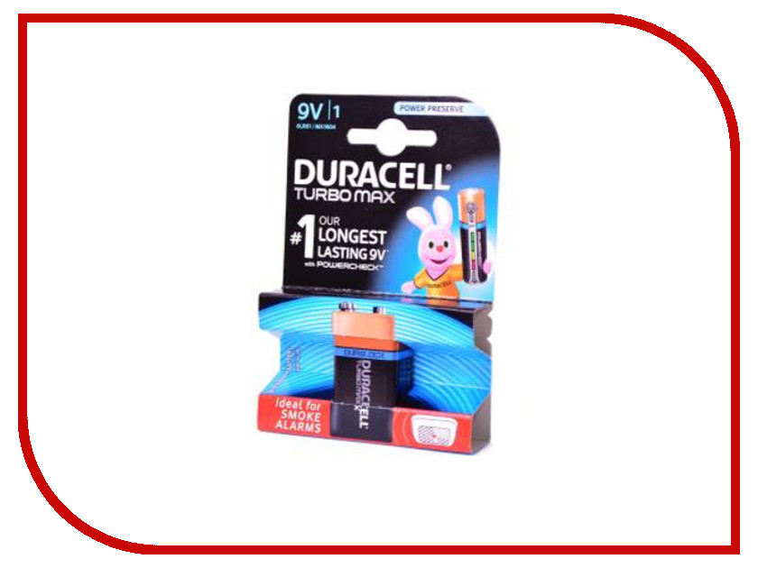 Батарейка Duracell Turbo MAX 6LR61-BL1 turbo