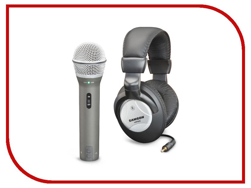Микрофон Samson Q2U USB + наушники HP20