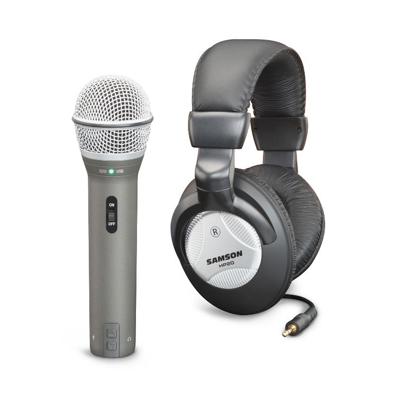 Комплект для звукозапсиси Samson Q2U USB + наушники HP20