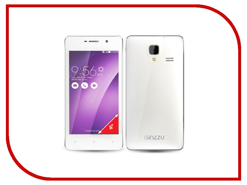 Сотовый телефон Ginzzu S4010 White