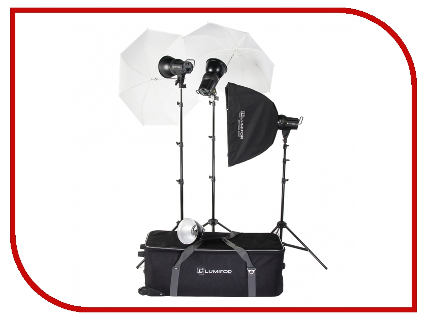 Комплект студийного света Lumifor Amato 100 Advance KIT LX-100-3SUU KIT<br>