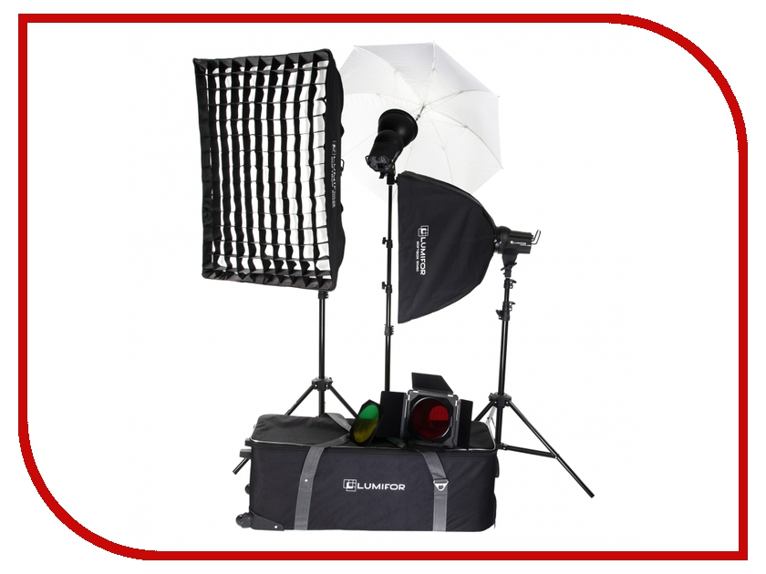 Комплект студийного света Lumifor Amato 200 Creative KIT LX-200-3SSUGB KIT<br>