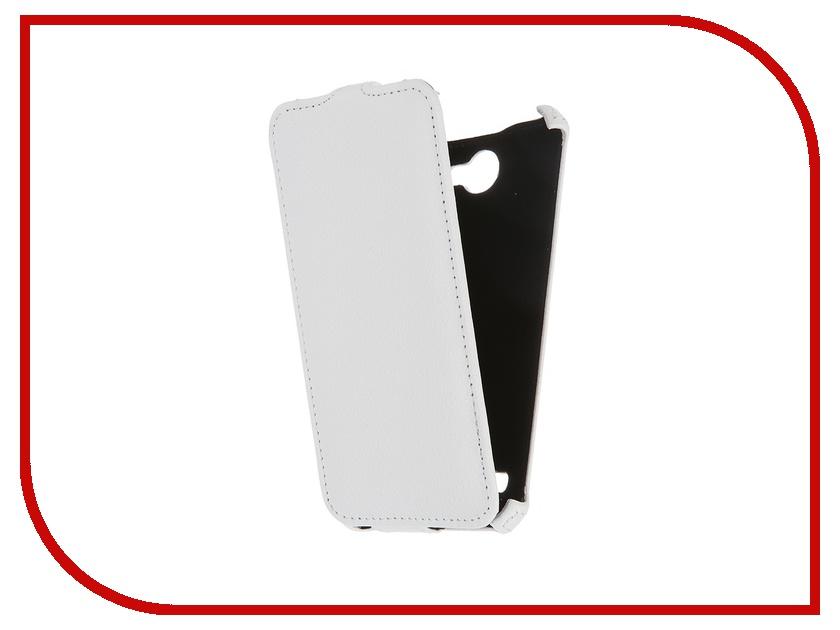 Аксессуар Чехол-флип Fly FS551 Nimbus 4 Gecko White GG-F-FLYFS551-WH смартфон fly nimbus 10 fs512 черный