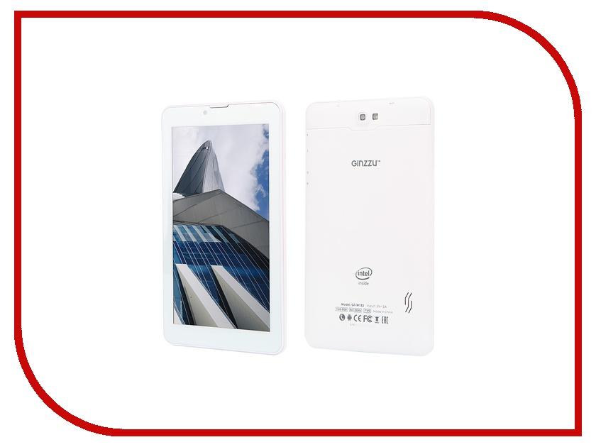 Планшет Ginzzu GT-W153 White Intel Atom x3-C3230RK 1.0 GHz/1024Mb/8Gb/Wi-Fi/3G/Bluetooth/Cam/7.0/1024x600/Android<br>