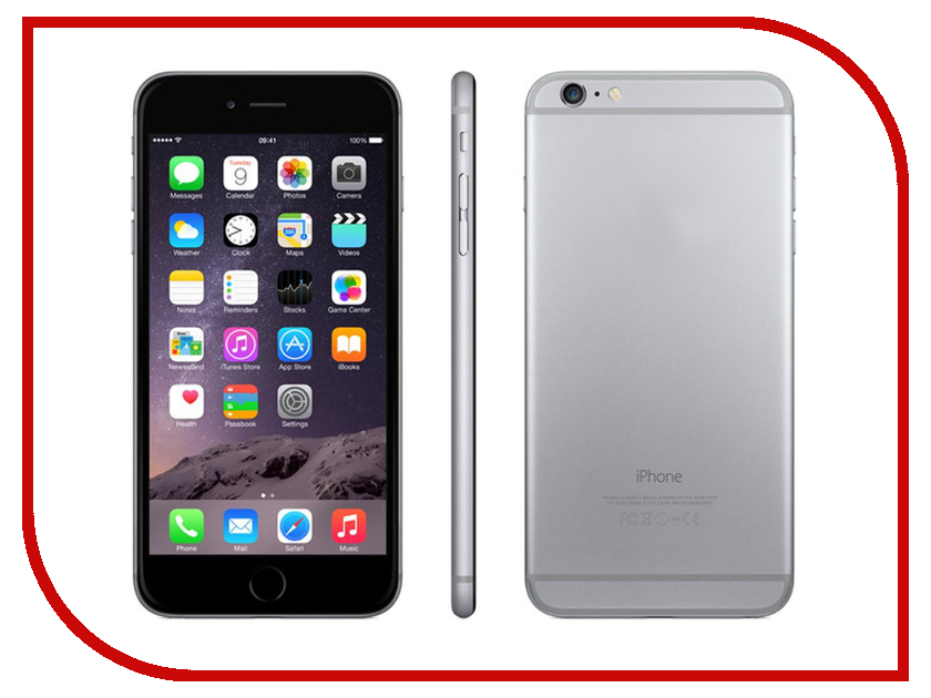 Сотовый телефон APPLE iPhone 6S Plus - 64Gb Space Gray MKU62RU/A<br>