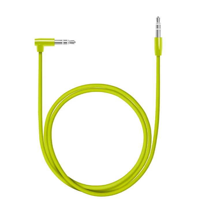 Аксессуар Deppa AUX Slim 3.5mm 1.2m Green 72196