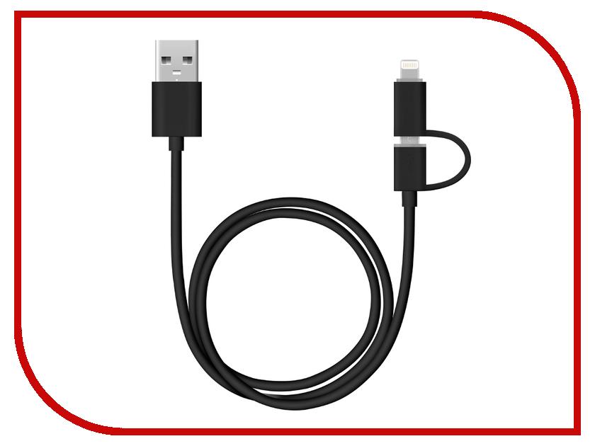 Аксессуар Deppa 72204 Black c адаптером lightning для iPhone/iPad/iPod colfer c struck by lightning